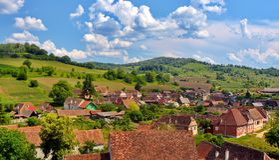Vila em Romania foto de stock royalty free