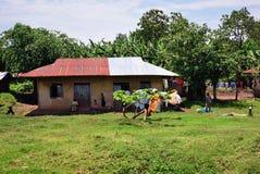 Vila em Uganda Imagem de Stock Royalty Free