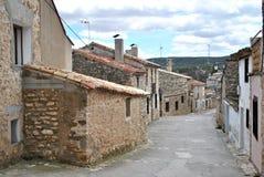 Vila espanhola quieta de Fuendetodos fotografia de stock