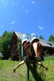 vila för bänk Fotografering för Bildbyråer
