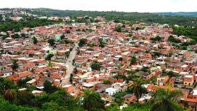 Vila Fagundes Community ha individuato nella città dello stato di Lagoa Santa di Minas Geraislocated in di Lagoa Santa MG immagine stock