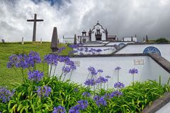 Our Lady of Peace Chapel, Sao Miguel island, Azores, Portugal royalty free stock photography