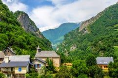 A vila francesa de Borce Imagens de Stock