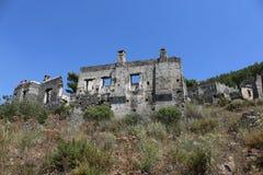 Vila grega abandonada Kayakoy Fotos de Stock