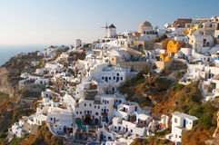 Vila grega tradicional Oia fotografia de stock