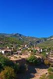 Vila grega, turca abandonada velha de Doganbey, Turquia Imagem de Stock