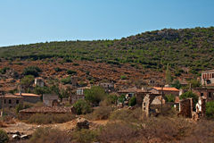 Vila grega/turca velha de Doganbey, Turquia 12 Imagem de Stock