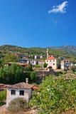 Vila grega/turca velha de Doganbey, Turquia 7 Fotografia de Stock Royalty Free