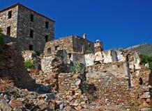 Vila grega/turca velha de Doganbey, Turquia 9 Fotografia de Stock