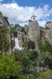 Vila histórica em rochas - Guadalest, Espanha imagem de stock