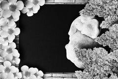 Vila i fred svart white Fotografering för Bildbyråer