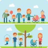 Vila i illustrationen för parkeralägenhetvektorn Royaltyfri Bild