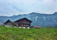Vila idílico em Suíça Imagem de Stock