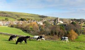Vila inglesa BRITÂNICA de Abbotsbury Dorset Inglaterra no campo Imagens de Stock Royalty Free