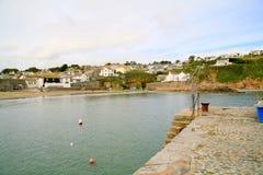 Vila litoral Cornish Fotografia de Stock Royalty Free