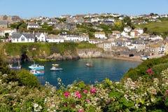 Vila litoral córnico do porto Isaac Cornwall England Reino Unido Foto de Stock Royalty Free