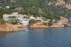 Vila litoral Fornells de março de Costa Brava da Espanha imagem de stock