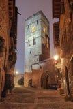 Vila medieval de Ainsa, Huesca, Espanha Fotos de Stock