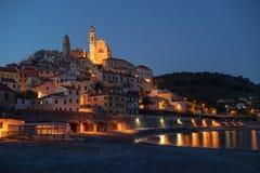 Vila medieval de Itália, Cervo na noite Imagens de Stock Royalty Free