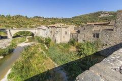 Vila medieval de Lagrasse, França Fotografia de Stock