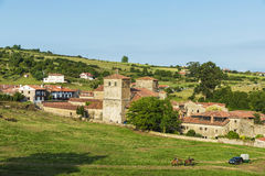 Vila medieval de Santillana Del Mar na Espanha Foto de Stock Royalty Free