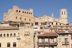 Vila medieval de Valderrobres Fotos de Stock Royalty Free