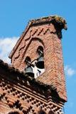 Vila medieval: Grazzano Visconti - igreja Fotos de Stock