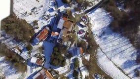 Vila mediterrânea no inverno video estoque