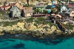 Vila Mellieha de Popeye, Malta Fotografia de Stock