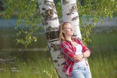 Vila nära sjön Fotografering för Bildbyråer