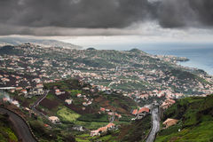 Vila na costa sul da ilha de Madeira, Câmara de Lobos - Portugal Foto de Stock Royalty Free
