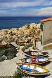 Vila na ilha da Ilha de Elba Imagem de Stock