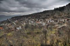 Vila na montanha Imagens de Stock