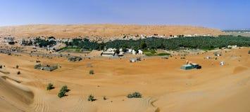 Vila nas areias de Wahiba, Oman fotografia de stock royalty free