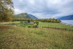 A vila nas montanhas Imagem de Stock Royalty Free