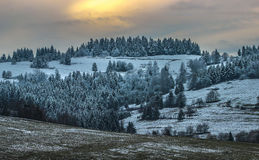 Vila no inverno Imagens de Stock Royalty Free