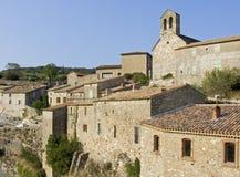 Vila no Languedoc foto de stock