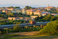 Vila no Toscane Foto de Stock Royalty Free