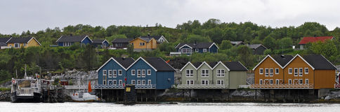 Vila norueguesa pequena Fotografia de Stock Royalty Free
