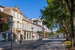 Vila Nova de Famalicao, Portogallo - vecchie costruzioni di Vila Nova de Famalicao fotografia stock libera da diritti