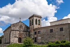 Vila Nova de Famalicao, Portugal - Santiago de Antas Monastery and Church. Vila Nova de Famalicao, Portugal - August 17, 2017: Santiago de Antas Romanesque Stock Images