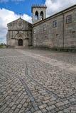 Vila Nova de Famalicao, Portugal - Santiago de Antas Monastery and Church. Vila Nova de Famalicao, Portugal - August 17, 2017: Santiago de Antas Romanesque Royalty Free Stock Images