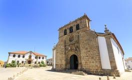 Vila Nova de Foz Coa – Parish Church. Parish church, City Hall and Pillory in the main square of the town of Vila Nova de Foz Coa, Portugal royalty free stock image