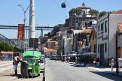 Vila Nova de Gaia en Oporto, Portugal Fotografía de archivo libre de regalías