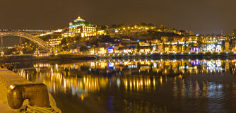 Vila Nova de Gaia at night , Portugal Stock Images