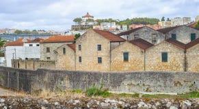 Vila Nova de Gaia port wine cellar building architecture, Porto Oporto city Royalty Free Stock Photos
