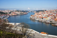 Vila Nova de Gaia and Porto in Portugal Stock Photography