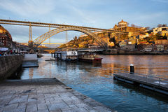 Vila Nova de Gaia and Porto at Sunset Stock Photos