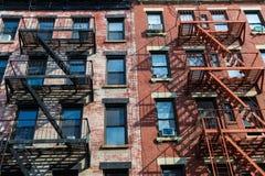 Vila ocidental em construções de New York Manhattan Foto de Stock Royalty Free
