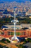 Vila olímpica em Barcelona Fotografia de Stock